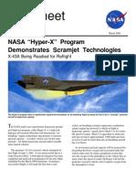 NASA Facts NASA Hyper-X Program Demonstrates Scramjet Technologies 2004