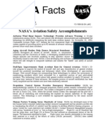 NASA Facts NASA's Aviation Safety Accomplishments