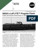Nasa Facts Nasa's Loflyte Program Flown