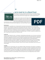 What to Look for in a Bond Fund