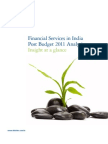 Financial Services Post Budget Analysis