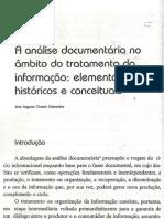 Análise documentária no âmbito do tratamento da informação