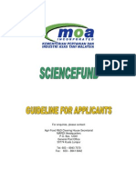 Science Fund Guideline
