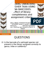 Assignment of unknowns to higher taxa using DNA barcodes