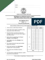 Mid Year Maths P2 SPM 2011