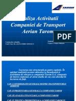 Analiza Activitatii Companiei de Transport Aerian Tarom