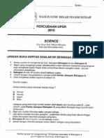 Trial Upsr Kedah Bah a Sains 2010