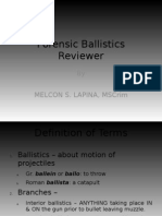 Forensic Ballistics Reviewer - Scribd