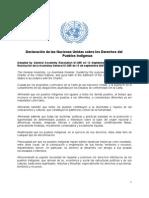 Declaración de las Naciones Unidas sobre los Derechos del
