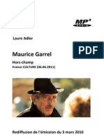 GARREL, Maurice • Maurice Garrel. Hors-champ (France Culture 06.06.2011) (+mp3)