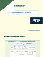 Apostila Controle - 17 - Análise de Estabilidade (Critério de Nyquist)
