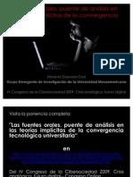 Las fuentes orales, puente de análisis en las teorías implícitas de la convergencia tecnológica