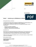 Engine Delivery Service Record Deutsch