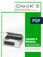 Micronta VoxClock 3 - Owners Manual & Schematic - Cat. 63-906