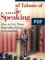 Dos and Taboos of Public Speaking