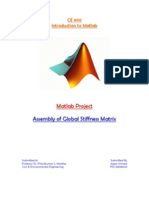 MATLAB Project Assembling the Global Stiffness Matrix