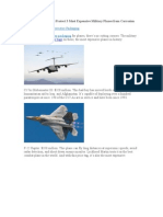 3 Most Expensive Military Planes and Their Moisture Barrier Bags