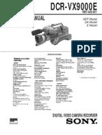 Sony Dcr Vx9000e