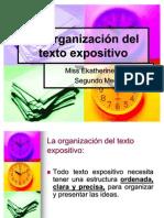 La Organización del texto expositivo