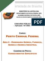 Prova Perito Criminal - Área Farmaceutico