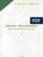 Oblast Brankovica - Opsirni katastarski popis iz 1455. godine