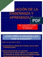 Evaluacion de la  Enseñanza y Aprendizaje