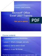 Excel 2007 Training
