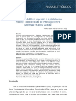 O material didático impresso e a plataforma