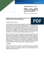 Recomendación 042/2011 de la CNDH a la SEDENA