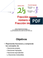 Fraccion Propia Numero Mixto Fraccion Impropias 1234736093253008 3