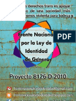 Presentación Ley de Identidad de Género