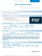 Dow Jones US Select Dividend Index Fact Sheet