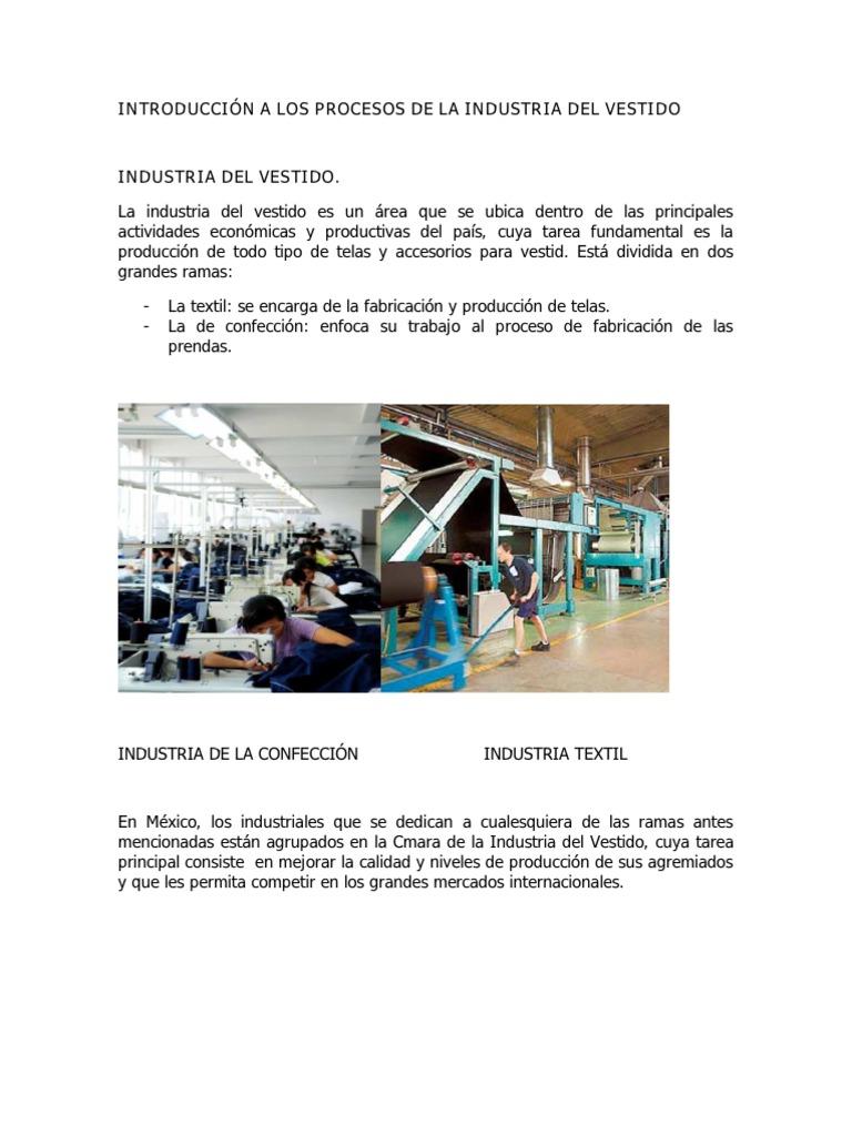 Industria La Los A Procesos Del Introducción De VestidoRopa 4Aj5R3L