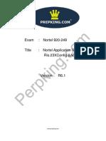 Prepking 920-249 Exam Questions