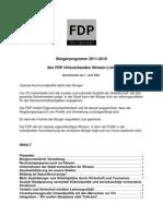 FDP WL Bürgerprogramm 2011-2016
