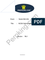 Prepking 920-254 Exam Questions