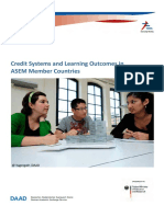 ASEM Credit Systems and Learning Outcomes May 2011