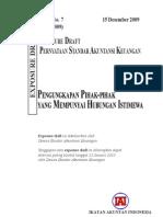 PSAK 7 Revisi 2009 Pengungkapan Pihak Pihak Yang Mempunyai Hubungan Istimewa