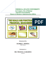 Goals and Functions of Fin Mngmnt