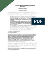 DESARROLLO PROFESIONAL PARA UNA EDUCACIÓN INCLUSIVA