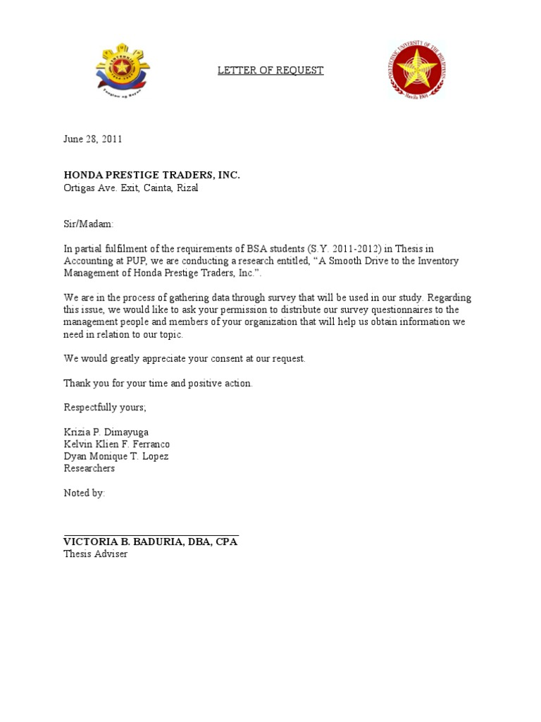 Request Letter For Statistician For Thesis - Thesis Title Ideas For College