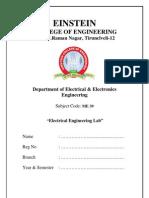 ME 39-Electrical Engineering Lab Manual