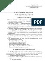 THE FRAMEWORK REGULATION on the Regional Development Council