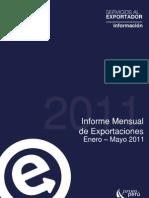 Informe Mensual de Expo Peruanas Enero Mayo 2011