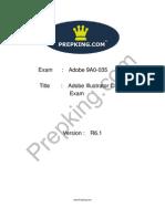 Prepking 9A0-035 Exam Questions
