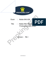 Prepking 9A0-039 Exam Questions