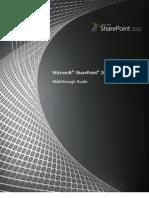 SharePoint 2010 Walkthrough Guide