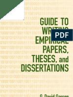 Who writes a thesis