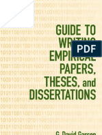 Writing Methodology- Garson- Guide to Writing Empirical Papers, Theses, & Dissertations- 2002