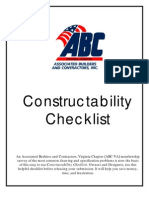 Construct Ability Checklist